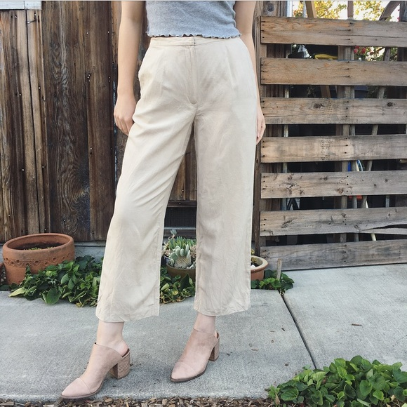 e669a092e67c Vintage Silk crop length high waist trouser pants.  M_5b89cc9a0945e00358dc95ed